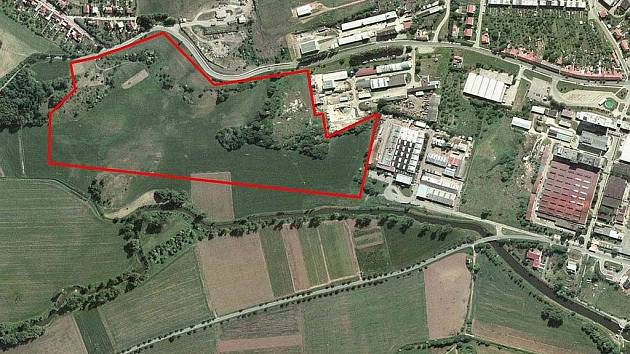 Průmyslová zóna Vojánky Blansko, když v průmyslové zóně nebyly téměř ještě žádné objekty.