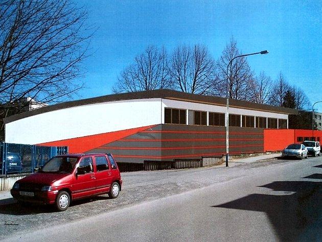 Plánovaná podoba sportovní haly v Boskovicích.