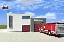 Takto má vypadat nová zbrojnice dobrovolných hasičů v Kunštátu.