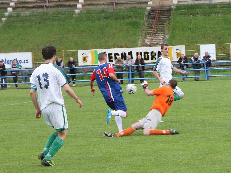 Fotbalisté Blanska remizovali s Otrokovicemi 2:2.