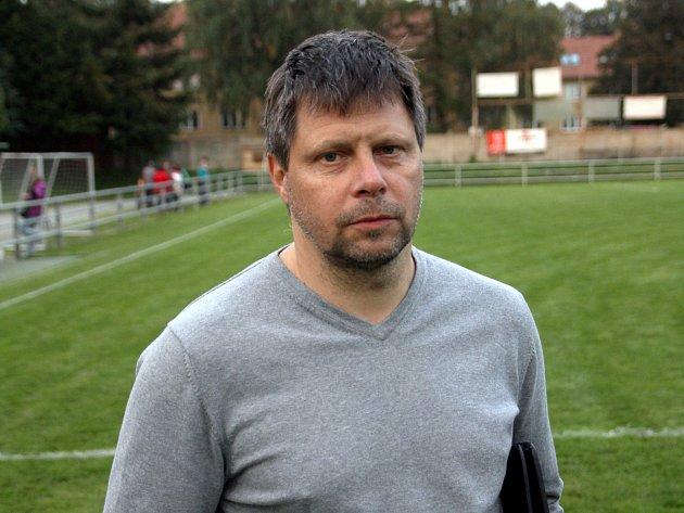 Trenér Rájce-Jestřebí Radek Sedláček.