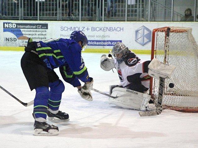 Hokejisté Boskovic porazili Blansko na svém ledě 5:2 a ve čtvrtfinále krajské ligy vedou 1:0 na zápasy.