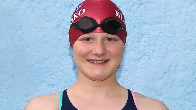 Anna Šťávová plavkyně Blansko.