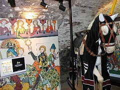 Středověká expozice, kterou si lidé od soboty chodí prohlédnout na Zámek Kunštát, nabízí několik témat. Mezi vystavenými lákadly nechybí preparovaný kůň, několik druhů jednoduchých zbraní nebo královská koruna.