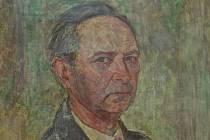 Vlastní podobizna malíře Josefa Biebra.