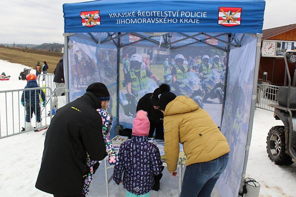 Preventivní akce policie ve ski areálu v Olešnici.