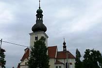 Kostel v Sebranicích.