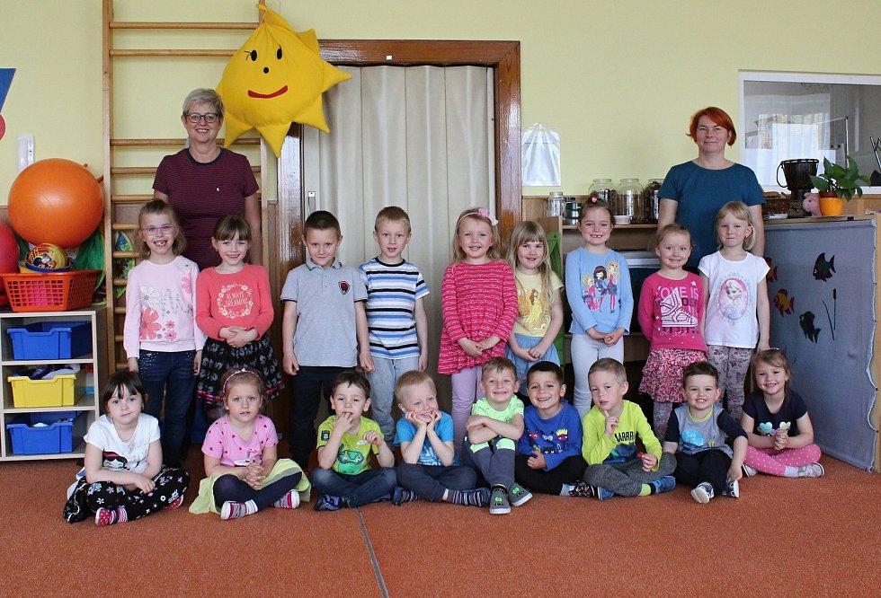 Děti ze třídy Sluníčka z Mateřské školy Komenského Letovice.