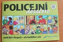 Omalovánky s policejním desaterem, které vydala Policie ČR Blansko.