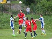 V utkání 26. kola Moravskoslezské fotbalové ligy (MSFL) Blansko rozdrtilo Viktorii Otrokovice 4:0.