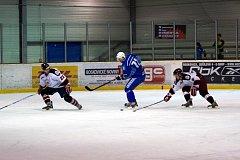 Hokejisté Dynamiters Blansko poprvé porazili Minervu Boskovice.