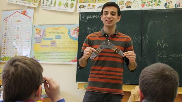 Na základní školu v Kunštátu přijelo s projektem Edison celkem osm studnetů z různých zemí. Zdrželi se týden.