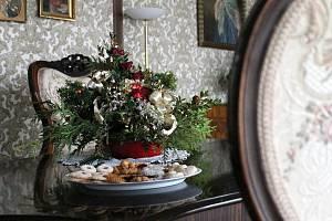 Vánočně vyzdobené komnaty lysického zámku.