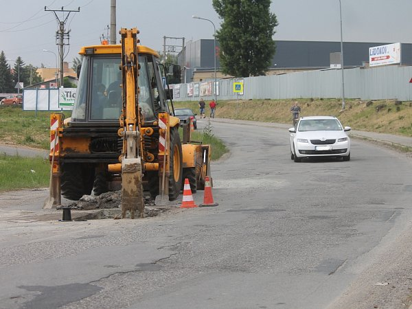 Začaly opravy ulice Chrudichromské vBoskovicích.