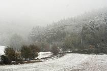 Blanensko překvapil první letošní sníh.