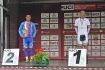 Závodník Favoritu Brno obsadil stříbro v silničním hromadném závodě v italské Corridonii.
