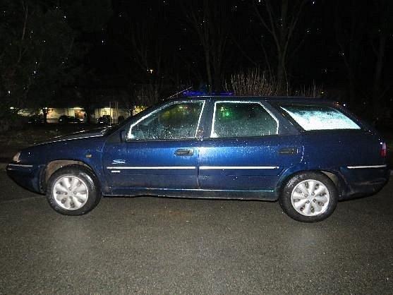 Auto, které srazilo chodkyně.