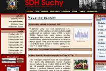 Web dobrovolných hasičů v Suchém.
