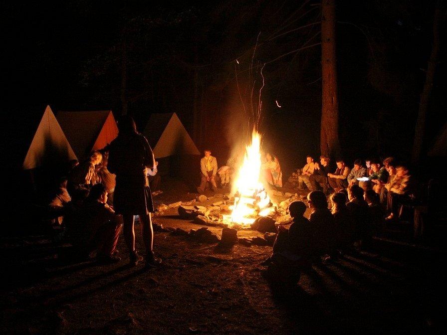 Skautský tábor. Ilustrační foto.