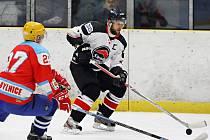 V 5. kole krajské ligy hokejisté Minervy Boskovice (bílé dresy) porazili Brumov-Bylnici vysoko 8:1.