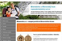 Webové stránky Blanensko.cz, zaměřené na turisty.