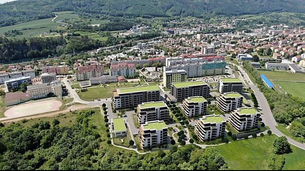 V blanenském sídlišti Písečná chce dvojice developerů postavit devět bytových domů s více než čtyřmi stovkami bytů.