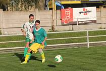 Fotbalisté Rájce-Jestřebí remizovali se Soběšicemi 2:2. Hosté proměnili jen jednu ze dvou penalt, druhou chytil Radim Polák.