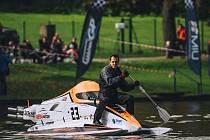 Rybník Olšovec v Jedovnicích opět přivítal účastníky světového šampionátu motorových člunů.