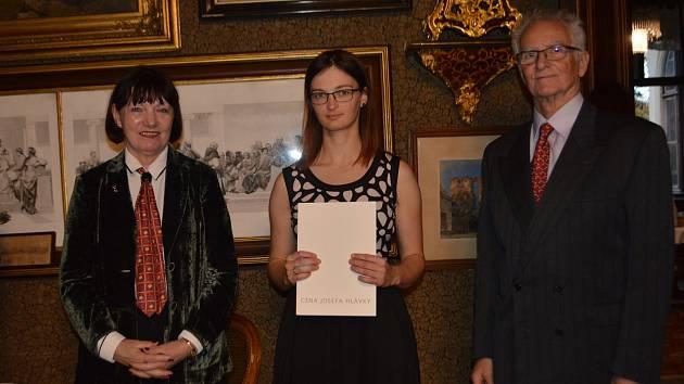 Dominika Kalasová z Letovic získala Cenu Josefa Hlávky. Ocenění pro talentované studenty, kteří prokázali ve svém oboru výjimečné schopnosti.