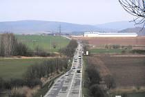 Přetížená silnice I/43 Brno - Svitavy