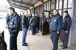 Ve čtvrtek stávkovali téměř všichni řidiči ze společnosti ČAD Blansko. Řada z nich se sešla na blanenském autobusovém nádraží.