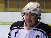 Kapitán mužstva Březiny Adam Kozel.