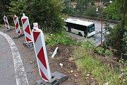 Tak vypadlo místo na okraji Blanska den po nehodě popelářského vozu.