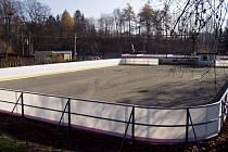 Opravené zimní kluziště v Olešnici.