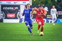 3. kolo Mol Cupu: Zbrojovka Brno (červená) - Vysočina Jihlava 1:0. Foto: FC Zbrojovka Brno/Martin Tajč