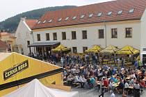 V Černé Hoře si vychutnávali nejen pivo, ale i koncerty.