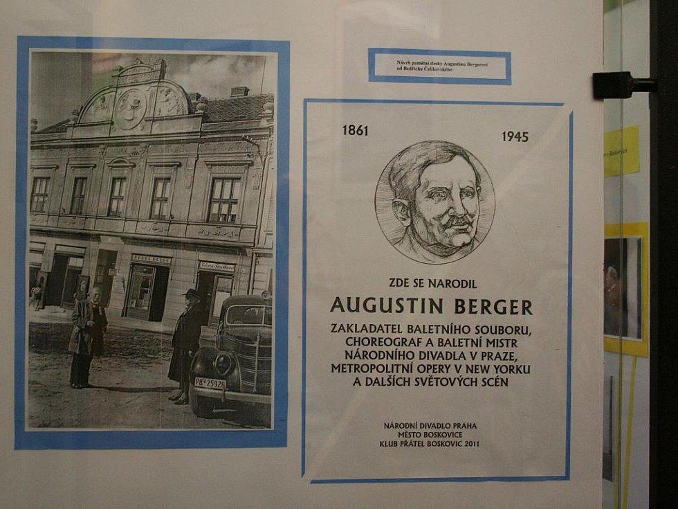 Klub přátel Boskovic uspořádal k výročí narození Augustina Bergera slavnost, při které nechyběli ani zástupci baletní scény Národního divadla.