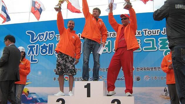 Marcel Haase z Jedovnic vyhrál podruhé Velkou cenu Jižní Korei motorových člunů.