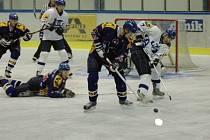 Hokejisté Blanska prohráli s Velkým Meziříčím v prodloužení 2:3, nicméně s Opavou už vyhráli 2:0.
