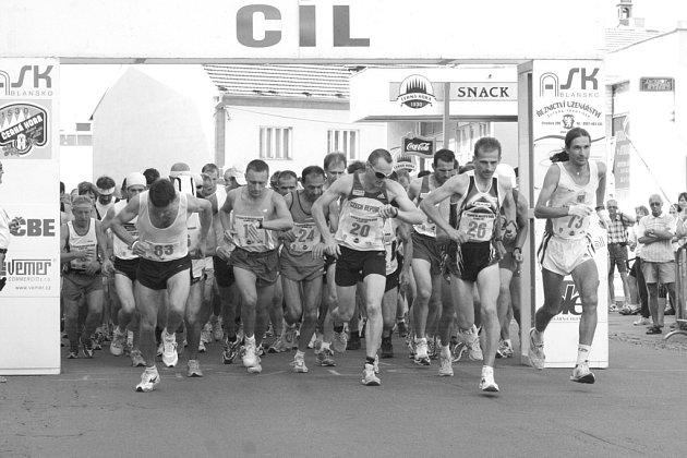 Start půlmaratonu.