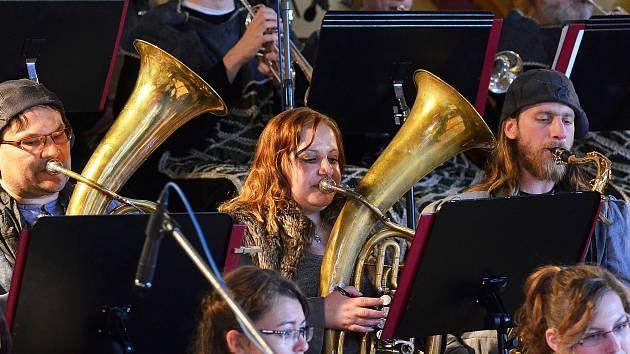 Velký dechový orchestr Základní umělecké školy Letovice. Ilustrační foto.