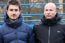 Trenéři Martin Daněk (vlevo) a Jiří Vorlický při boskovickém semináři.