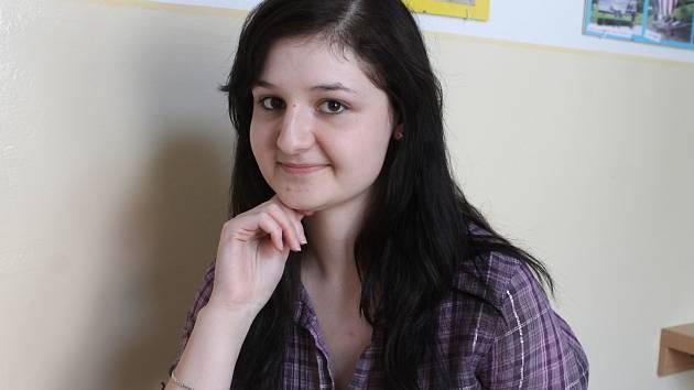 Talentovaná Klára Spilková zatím studuje rájecké gymnázium.