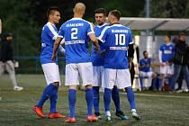 Blanensko (v modrém) v Superlize malého fotbalu.