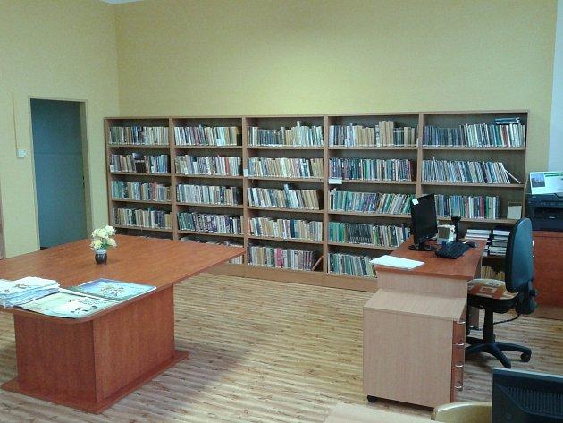 Upravené prostory knihovny ve Lhotě Rapotině.