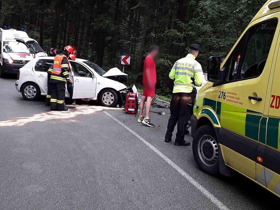 Nehoda u Ludíkova si vyžádala zranění pěti lidí, z toho dvou dětí.