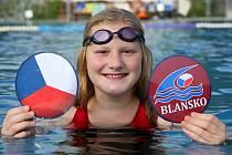 Nejúspěšnější blanenská plavkyně v brněnské kvalifikaci na mistrovství republiky Anna Šťávová.