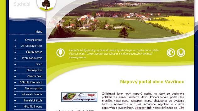 Obyvatelé Vavřince mohou od srpna využít služby nového mapového portálu.