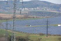 Fotovoltaická elektrárna u Boskovic.