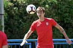 Jakub Černín při přípravném zápase v létě 2019 v dresu Zbrojovky Brno.